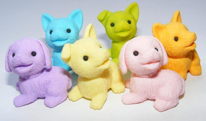 IWAKO NOVELTY ERASERS/RUBBERS - GREEN PUPPY